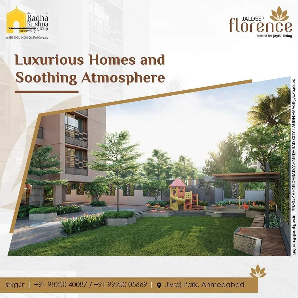 Beautiful and luxurious homes with a soothing and peaceful atmosphere!  #ShreeRadhaKrishnaGroup #DreamHomes #Ahmedabad #RealEstate