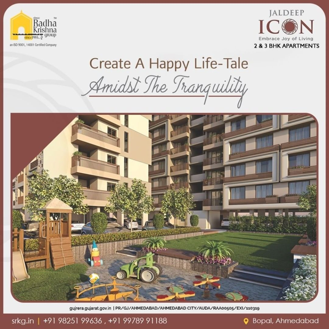 Live life to the fullest! A home amidst the peaceful environs and greenery is a next-level delight for the one who adores tranquility!  #Icon #LuxuryLiving #ShreeRadhaKrishnaGroup #Ahmedabad #RealEstate #SRKG