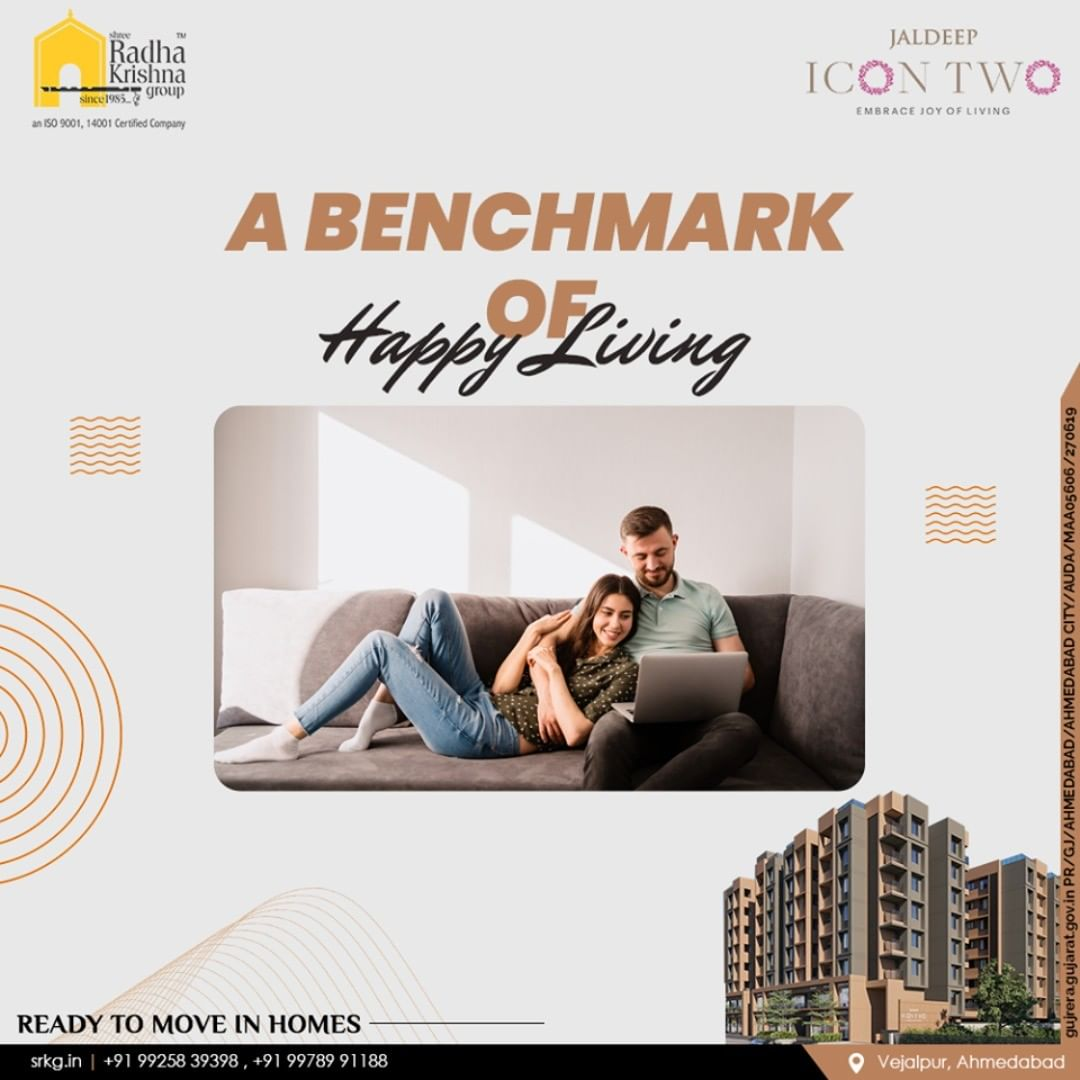 Home' is what brings us all together. It opens the doors for serendipity. Relish a lifestyle soaked in serenity amidst lavish luxuries at Jaldeep Icon2.  #JaldeepIcon2 #Icon2 #Vejalpur #LuxuryLiving #ShreeRadhaKrishnaGroup #Ahmedabad #RealEstate #SRKG