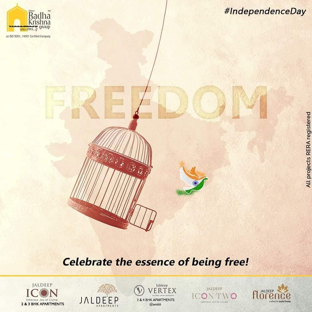 Celebrate the essence of being free!  #IndependenceDay #JaiHind #IndependencedayIndia #HappyIndependenceDay #IndependenceDay2020 #ProudtobeIndian #ShreeRadhaKrishnaGroup #Ahmedabad #RealEstate #SRKG