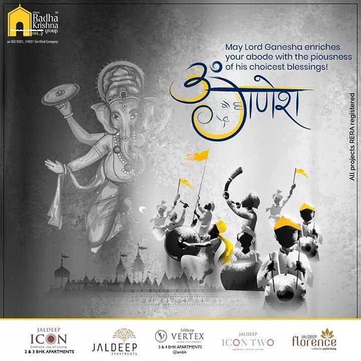Radha Krishna Group,  HappyGaneshChaturthi, GaneshChaturthi2020, GanpatiBappaMorya, Ganesha, GaneshChaturthi, IndianFestival, ShreeRadhaKrishnaGroup, Ahmedabad, RealEstate, SRKG