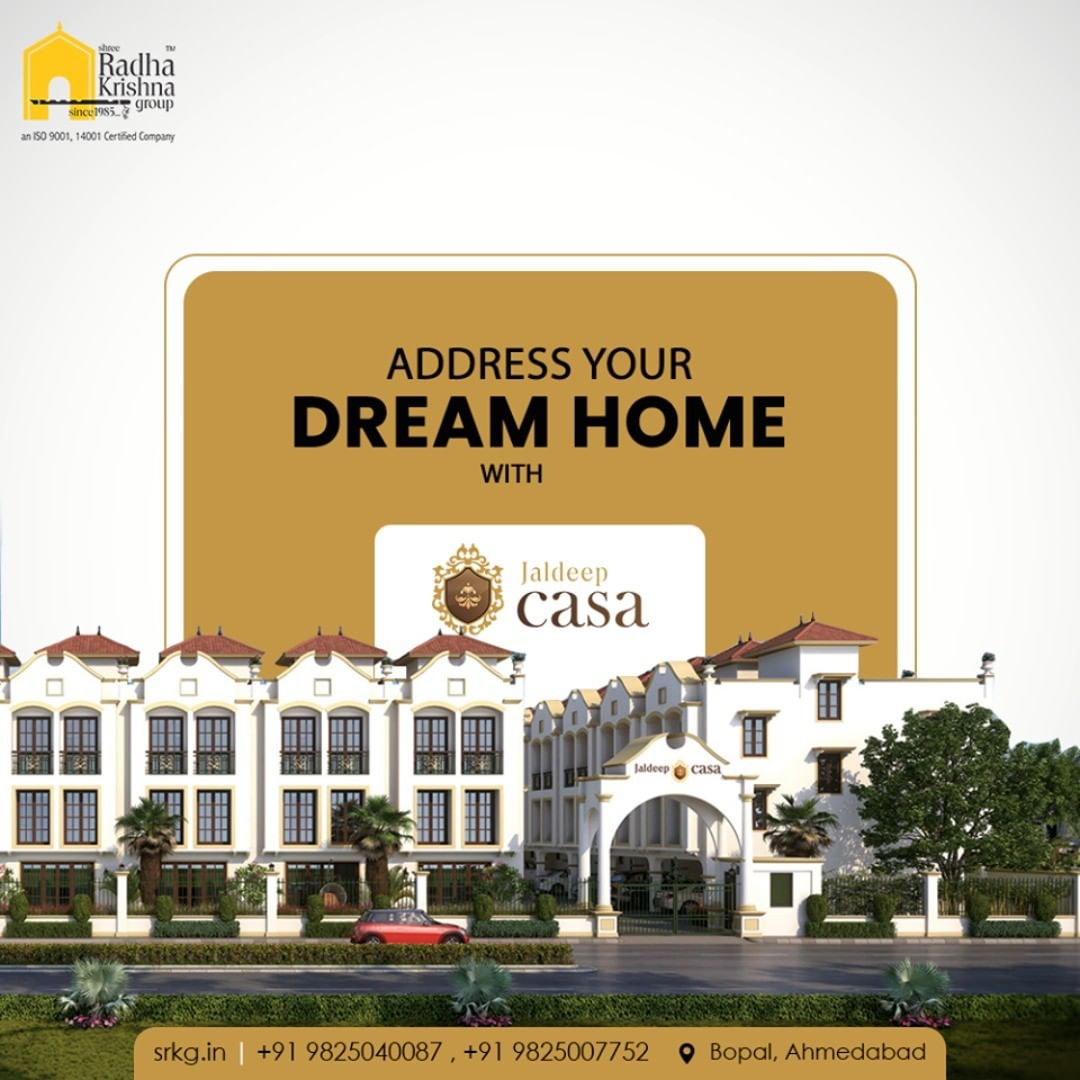 Unbox your dream home at the fastest developing Area, In Bopal.  #JaldeepCasa #WorkOfHappiness #Bopal #Amenities #LuxuryLiving #ShreeRadhaKrishnaGroup #Ahmedabad #RealEstate