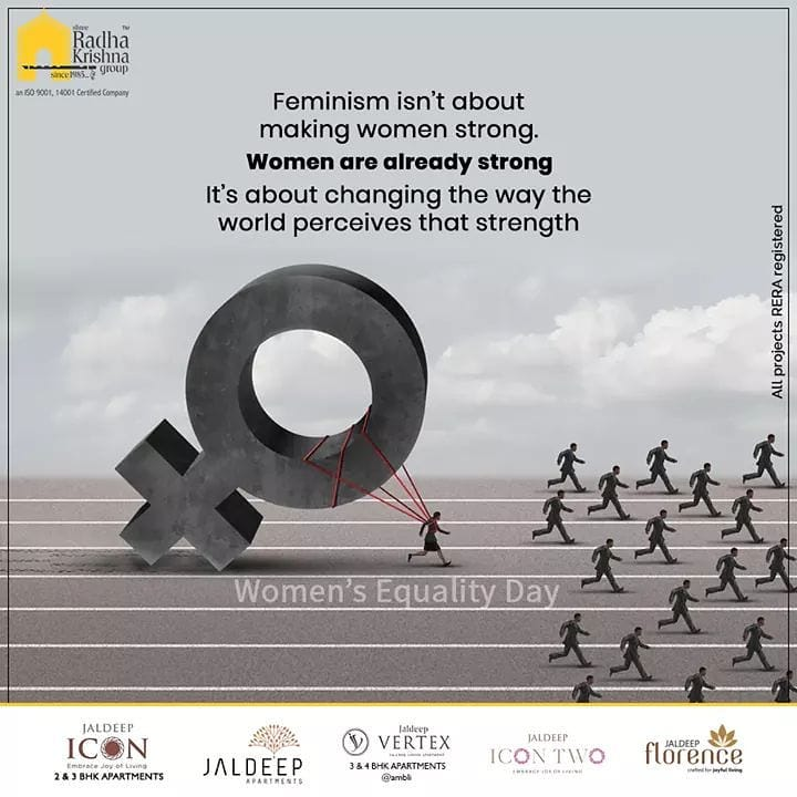 Radha Krishna Group,  WomenEqualityDay, WomenEqualityDay2020, ShreeRadhaKrishnaGroup, Ahmedabad, RealEstate, SRKG