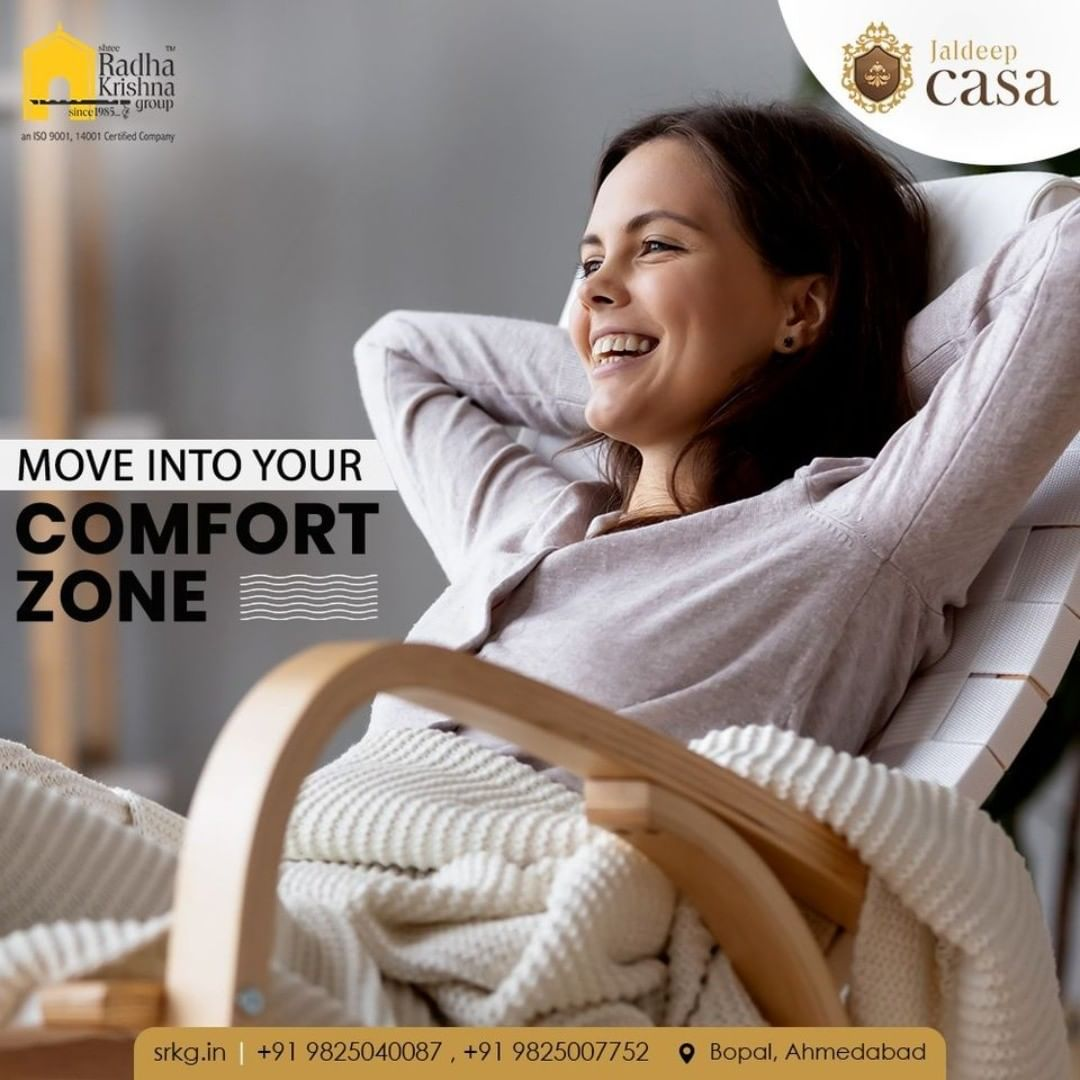 Re-discover and re-invent yourself by spending more me-time at your own comfort zone.  #JaldeepCasa #WorkOfHappiness #Bopal #Amenities #LuxuryLiving #ShreeRadhaKrishnaGroup #Ahmedabad #RealEstate