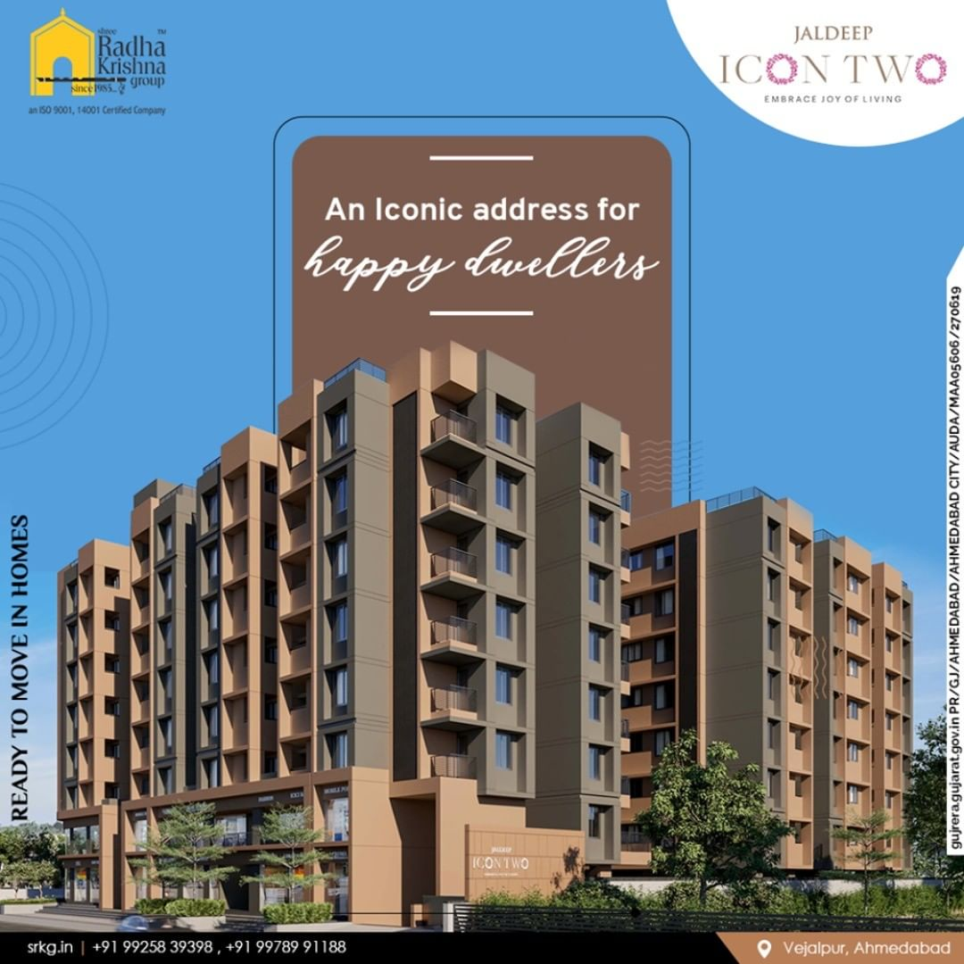 Hey, happy dwellers make no compromise with your lifestyle and add an iconic melody to your life at Jaldeep Icon Two.  #Amenities #LuxuryLiving #ShreeRadhaKrishnaGroup #Ahmedabad #RealEstate #SRKG #IconicApartments #IconicLiving