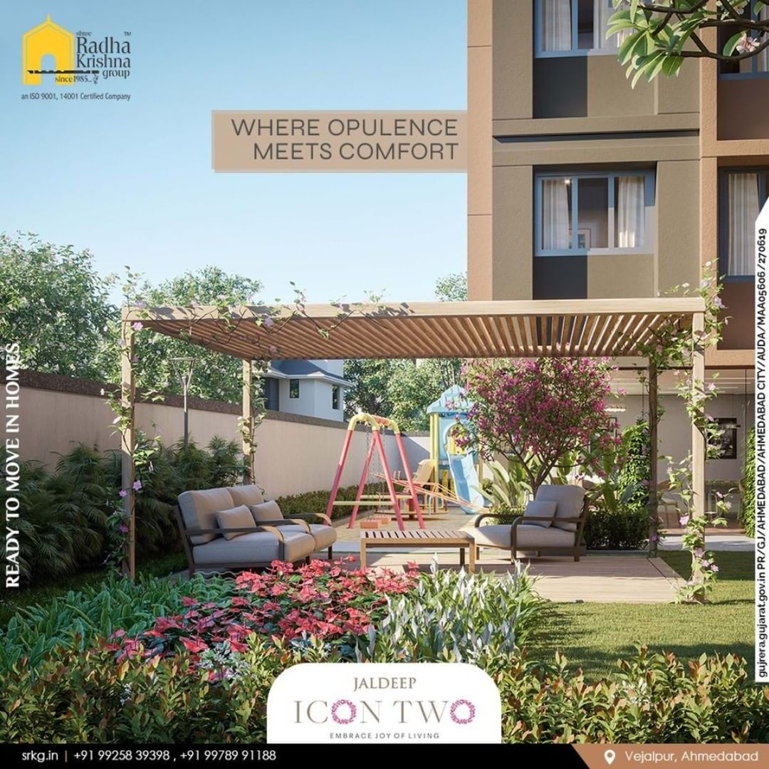 Radha Krishna Group,  JaldeepIcon., RediscoverPeace, SampleFlatReady, 2and3BHKApartments, Amenities, LuxuryLiving, ShreeRadhaKrishnaGroup, Makarba, Ahmedabad