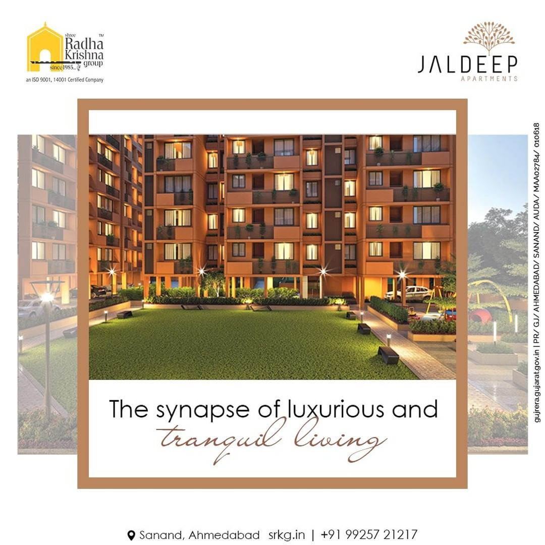 Jaldeep Apartments are the ultimate synapse of luxurious and tranquill living. Experience the world of endless amenities today only at Jaldeep Apartments.  #JaldeepApartments #LuxuryLiving #ShreeRadhaKrishnaGroup #Ahmedabad #RealEstate #SRKG