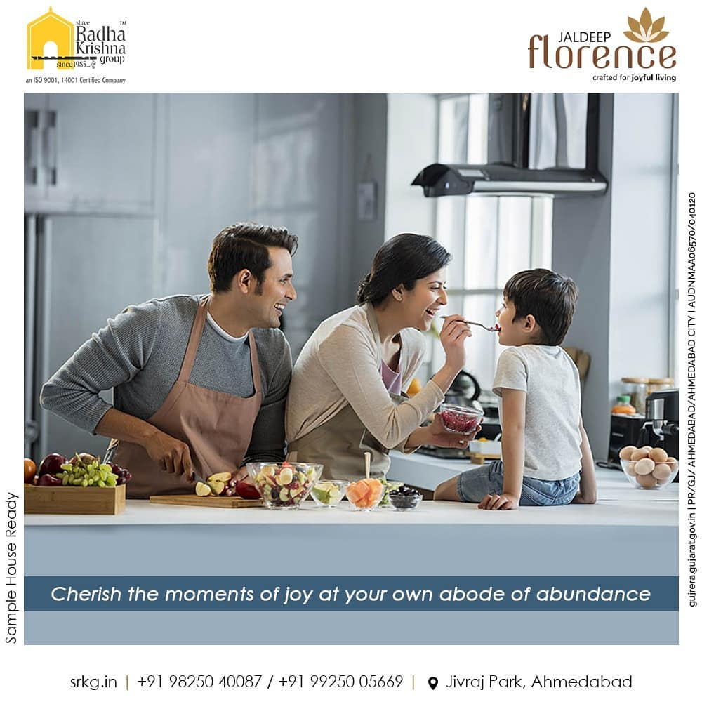 Cherish the moments of joy at your own abode of abundance. Residing amidst the ultra-luxurious and spacious homes at Jaldeep Florence will make you feel that your dream of an opulent home actually came true.  #JaldeepFlorence #Amenities #Launchingsoon #LuxuryLiving #RadhaKrishnaGroup #ShreeRadhaKrishnaGroup #JivrajPark #Ahmedabad #RealEstate #SRKG