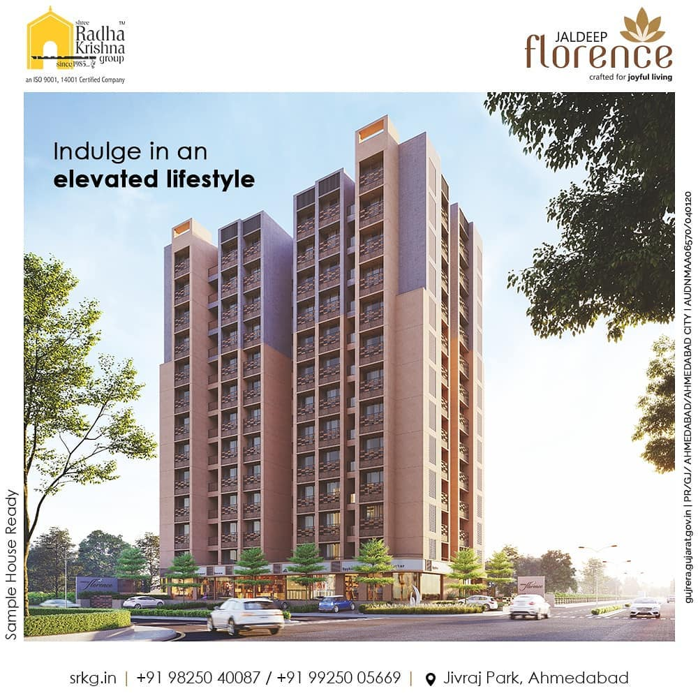 Indulge in an elevated lifestyle at a home that's as extraordinary as the people residing in it. The coveted address of Jaldeep Florence puts you in a residence that anticipates your every desire and elevates your life amidst the energy of the vibrant city of Ahmedabad.  #JaldeepFlorence #Amenities #Launchingsoon #LuxuryLiving #RadhaKrishnaGroup #ShreeRadhaKrishnaGroup #JivrajPark #Ahmedabad #RealEstate #SRKG