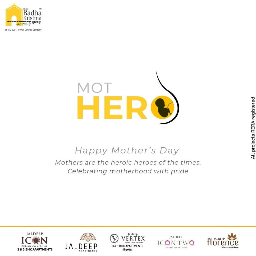 Mothers are the heroic jeroes of the times. Celebrating motherhood with pride.  #HappyMothersDay #MothersDay #MothersDay2021 #Motherhood #ShreeRadhaKrishnaGroup #RadhaKrishnaGroup #SRKG #Ahmedabad #RealEstate
