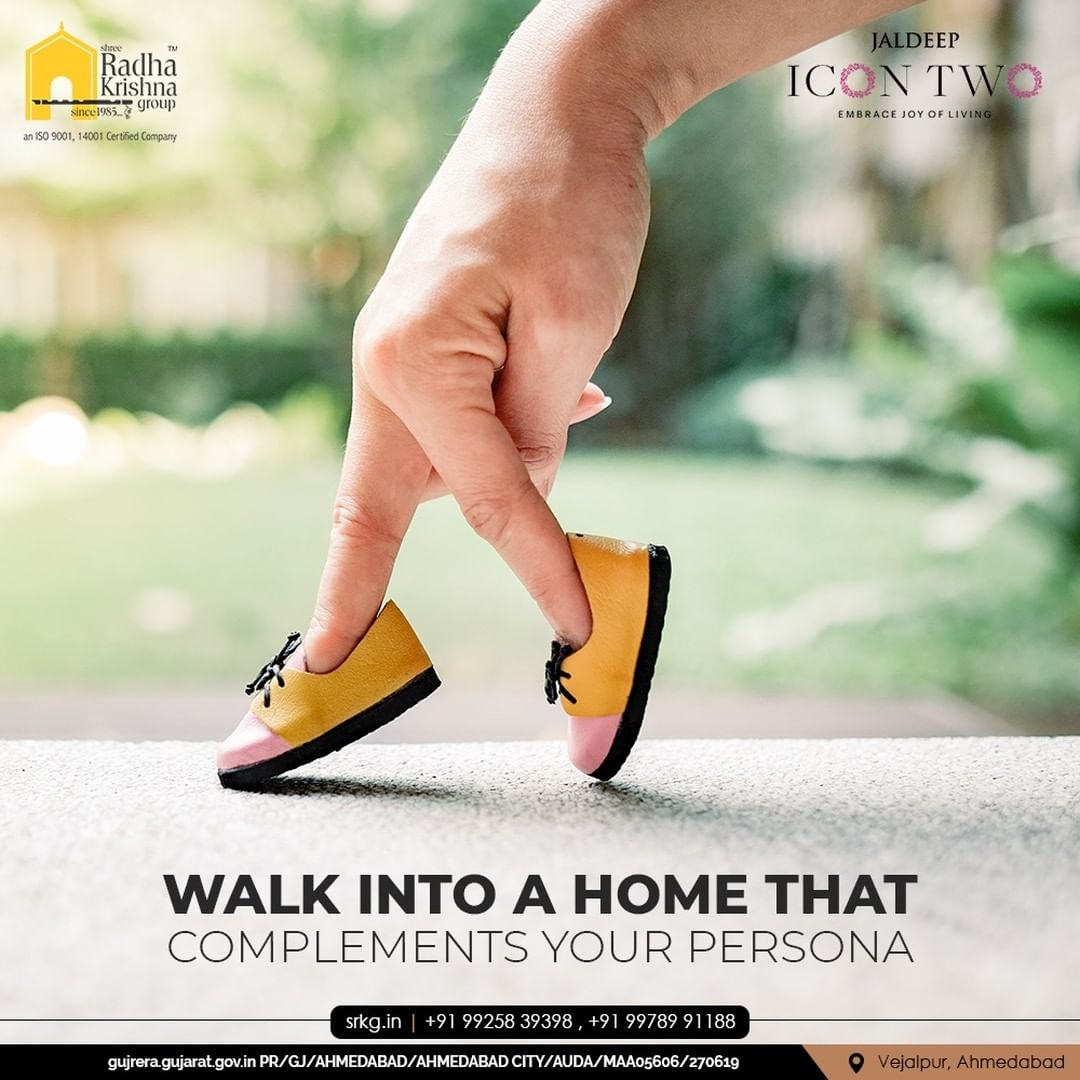 Luxurious and spacious abodes that make you and your family dwell well. Walk into a home that complements your persona.  #JaldeepIconTwo #IconTwo #LuxuryLiving #ShreeRadhaKrishnaGroup #RadhaKrishnaGroup #SRKG #Vejalpur #Makarba #Ahmedabad #RealEstate