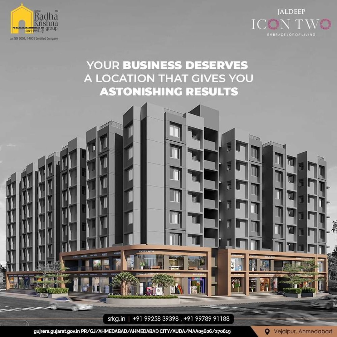 Your business deserves a location that gives you astonishing results with neverending opportunities. Book your spaces at Jaldeep Icon Two and embrace the prosperity within.  #JaldeepIconTwo #IconTwo #LuxuryLiving #ShreeRadhaKrishnaGroup #RadhaKrishnaGroup #SRKG #Vejalpur #Makarba #Ahmedabad #RealEstate