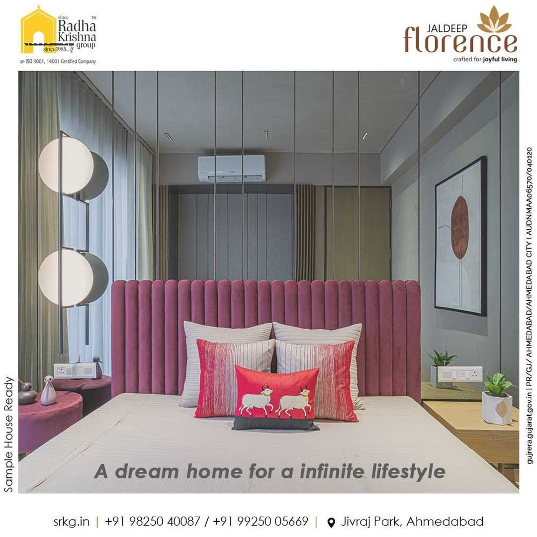 Why keep yourself restricted to the finite availabilities when your lifestyle can get immersed with infinite amenities?  Book a dream home that will let you live the opulent life in signature style.  #JaldeepFlorence #Amenities #LuxuryLiving #RadhaKrishnaGroup #ShreeRadhaKrishnaGroup #JivrajPark #Ahmedabad #RealEstate #SRKG