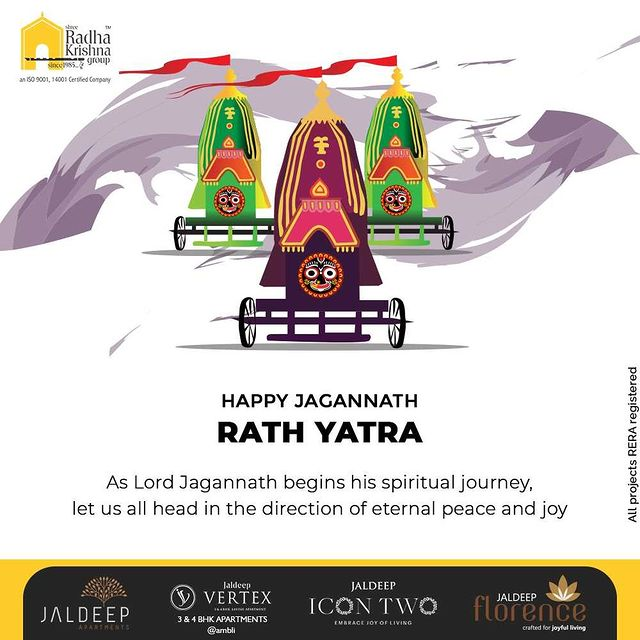 As lord jagannath begins his spiritual journey let us all head in the direction of eternal peace and joy  #rathyatra #jagannath #jaijagannath #lordjagannath #rathyatra2021 #chariot #indianfestivals #jagannathrathyatra #ShreeRadhaKrishnaGroup #RadhaKrishnaGroup #SRKG #Ahmedabad #RealEstate
