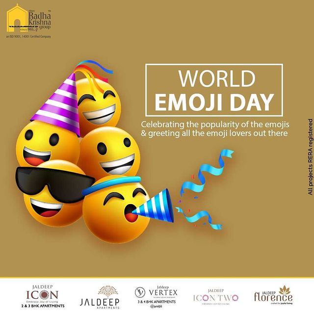 Celebrating the popularity of the emojis & greeting all the emoji lovers out there  #WorldEmojiDay #EmojiDay #WorldEmojiDay2021 #ShreeRadhaKrishnaGroup #RadhaKrishnaGroup #SRKG #Ahmedabad #RealEstate