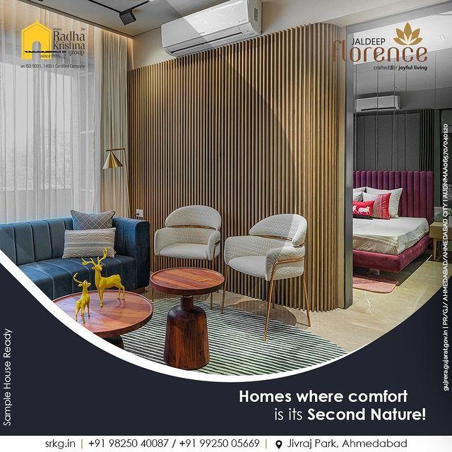 Thanks to its elegant and comfort-prioritized design backed by rich greenery, comfort is second nature at Jaldeep Florence.  #JaldeepFlorence #Amenities #LuxuryLiving #RadhaKrishnaGroup #ShreeRadhaKrishnaGroup #JivrajPark #Ahmedabad #RealEstate #SRKG