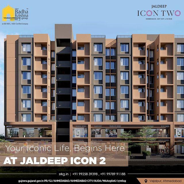 Enter a blissful and iconic life of your dreams at Jaldeep Icon 2, 2 BHK Homes with great amenities & Beautiful urban construction.  #JaldeepIconTwo #IconTwo #LuxuryLiving #ShreeRadhaKrishnaGroup #RadhaKrishnaGroup #SRKG #Vejalpur #Makarba #Ahmedabad #RealEstate