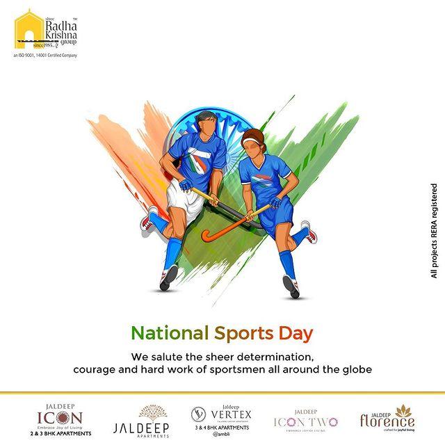 Radha Krishna Group,  NationalSportsDay, NewIndiaFitIndia, NationalSportsDay2021, MajorDhyanChand, BirthAnniversary, ShreeRadhaKrishnaGroup, RadhaKrishnaGroup, SRKG, Ahmedabad, RealEstate