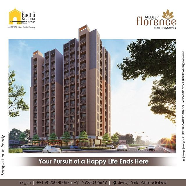 Your Pursuit of a Happy Life Ends Here at Jaldeep Florence, luxurious homes in the coveted location of Jivraj Park with great amenities.  #Amenities #LuxuryLiving #RadhaKrishnaGroup #ShreeRadhaKrishnaGroup #JivrajPark #Ahmedabad #RealEstate #SRKG