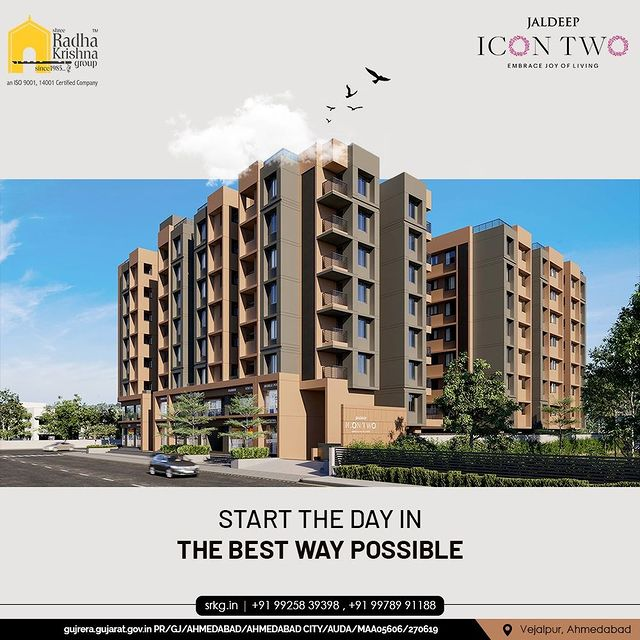 Welcome to the one-of-its kind residential project, Jaldeep Icon 2. A 2 BHK Construction with great amenities and life filled with Affluence & Bliss.  #JaldeepIconTwo #IconTwo #LuxuryLiving #ShreeRadhaKrishnaGroup #RadhaKrishnaGroup #SRKG #Vejalpur #Makarba #Ahmedabad #RealEstate