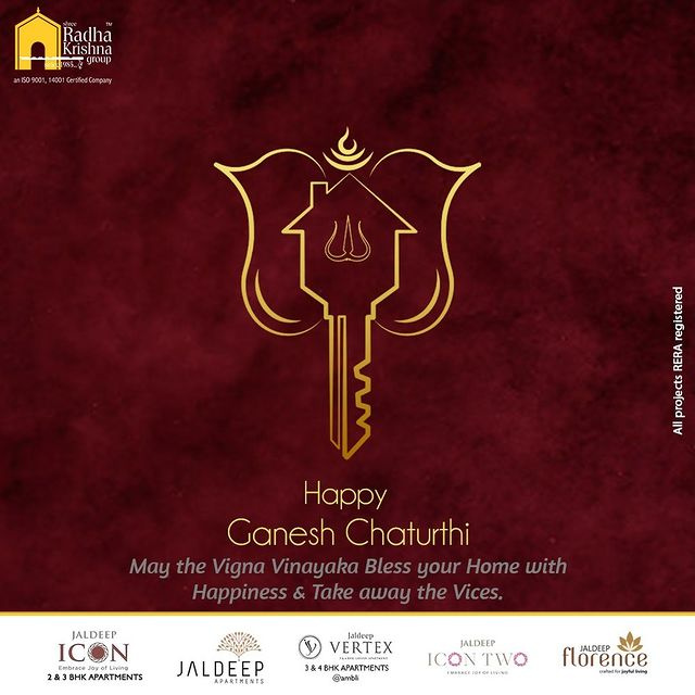 May the Vigna Vinayaka Bless your Home with Happiness & Take away the Vices.  #GaneshChaturthi #HappyGaneshChaturthi #GaneshChaturthi2021 #LordGanesha  #IndianFestival #SRKG #Ahmedabad #RealEstate