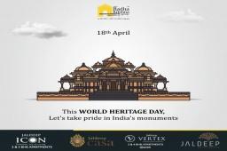 Let's take pride in India's monuments  #WorldHeritageDay #HeritageDay #ShreeRadhaKrishnaGroup #Ahmedabad #RealEstate
