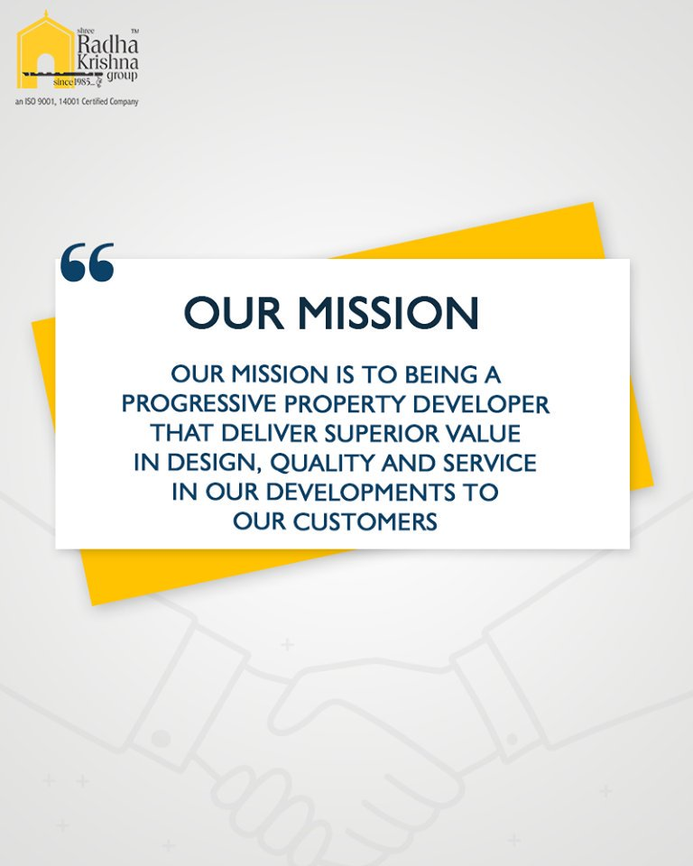 :: Our Mission::  #ShreeRadhaKrishnaGroup #Ahmedabad #RealEstate https://t.co/Tp2GxeMyyJ