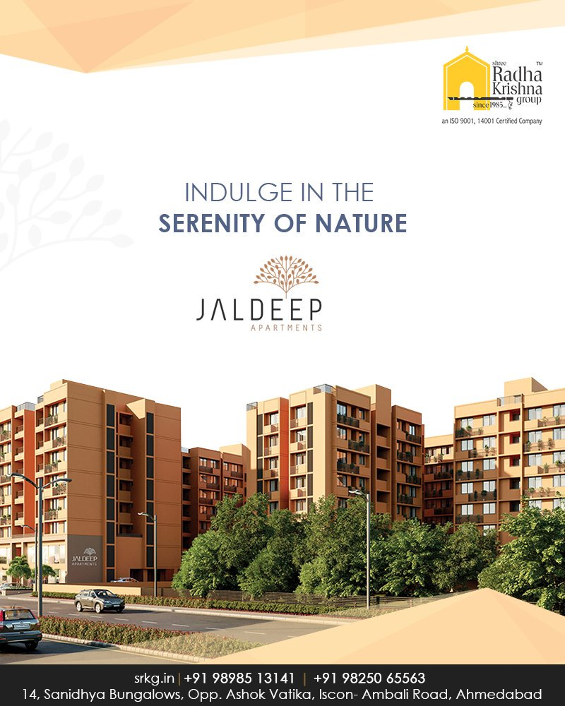 Escape the chaos of the city; find refuge in the lap of nature.  #JaldeepApartments #Sanand #ShreeRadhaKrishnaGroup #Ahmedabad #RealEstate #LuxuryLiving https://t.co/8qENIQvhVS