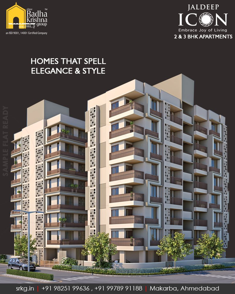 An inception of green peaceful and calm life.  #JaldeepIcon #SampleFlatReady #2and3BHKApartments #LuxuryLiving #ShreeRadhaKrishnaGroup #Makarba #Ahmedabad https://t.co/CR5lajpUR4