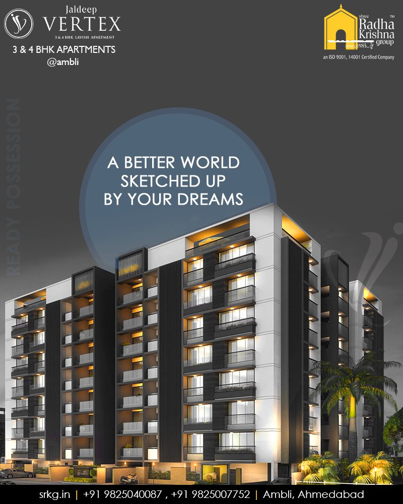 An assurance of a better world sketched up by your dreams, hopes and future plan; have all become the most needed part of every individual's life. #WorkOfArtResidence #Ambli #JaldeepVertex #ShreeRadhaKrishnaGroup #Ahmedabad #RealEstate #LuxuryLiving https://t.co/iP0ezQp5tA