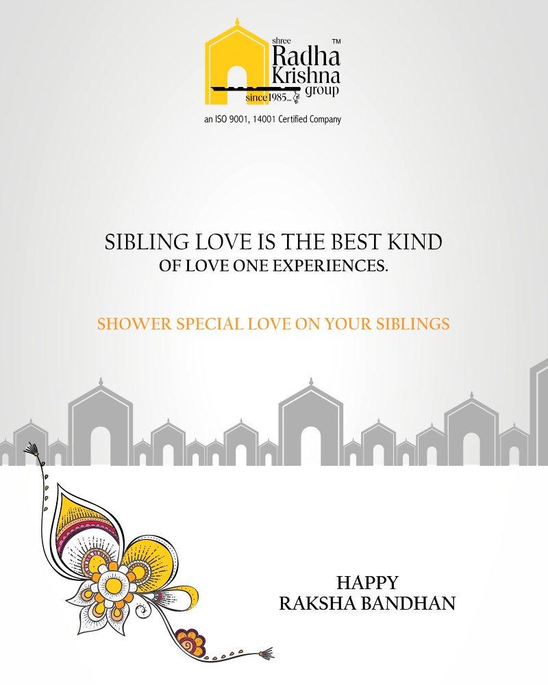 Sibling love is the best kind of love one experiences.  #HappyRakshaBandhan #RakshaBandhan #RakshaBandhan2018 #ShreeRadhaKrishnaGroup #Ahmedabad #RealEstate #LuxuryLiving https://t.co/4IASApOLx8