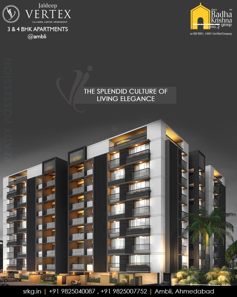 The right place with better life in terms of style, class, luxury, conveniences  #WorkOfArtResidence #Ambli #JaldeepVertex #ShreeRadhaKrishnaGroup #Ahmedabad #RealEstate #LuxuryLiving https://t.co/FbG0LYruAu
