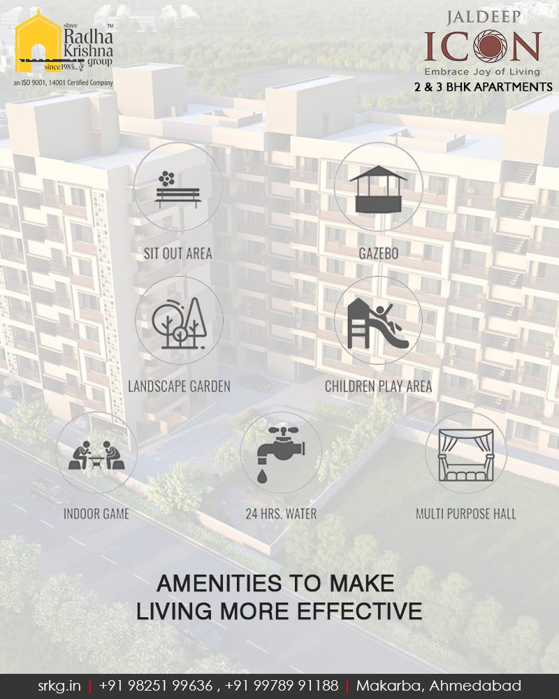 Every apartment at #JaldeepIcon is carefully crafted to provide you with the best of amenities that will help you lead the upgraded holistic lifestyle.  #SampleFlatReady #2and3BHKApartments #Amenities #LuxuryLiving #ShreeRadhaKrishnaGroup #Makarba #Ahmedabad https://t.co/7nhLcGDpbt