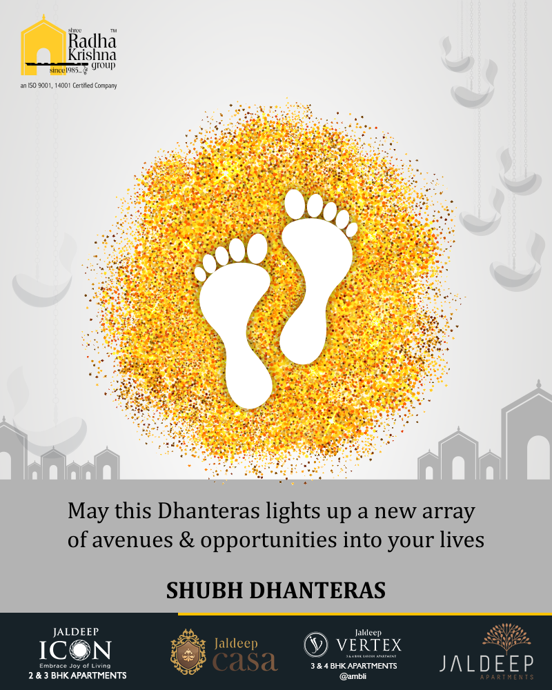 May this Dhanteras lights up a new array of avenues & opportunities into your lives!  #Dhanteras #Dhanteras2018 #ShubhDhanteras #IndianFestivals #DiwaliIsHere #Celebration #HappyDhanteras #FestiveSeason #ShreeRadhaKrishnaGroup #LuxuriousHomes #Gujarat #India https://t.co/izu40tT5nA