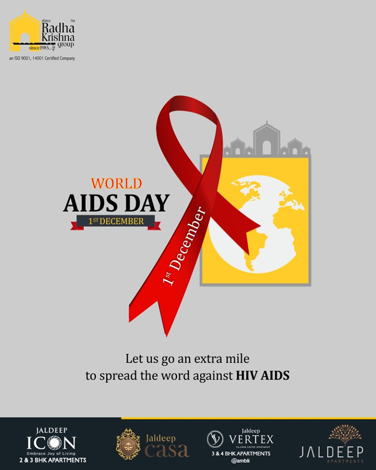 Let us go an extra mile to spread the word against HIV AIDS.  #WorldAidsDay #AidsDay #WorldAidsDay2018 #AidsDay2018 #ShreeRadhaKrishnaGroup #Ahmedabad #RealEstate https://t.co/3tJrcLGxZW