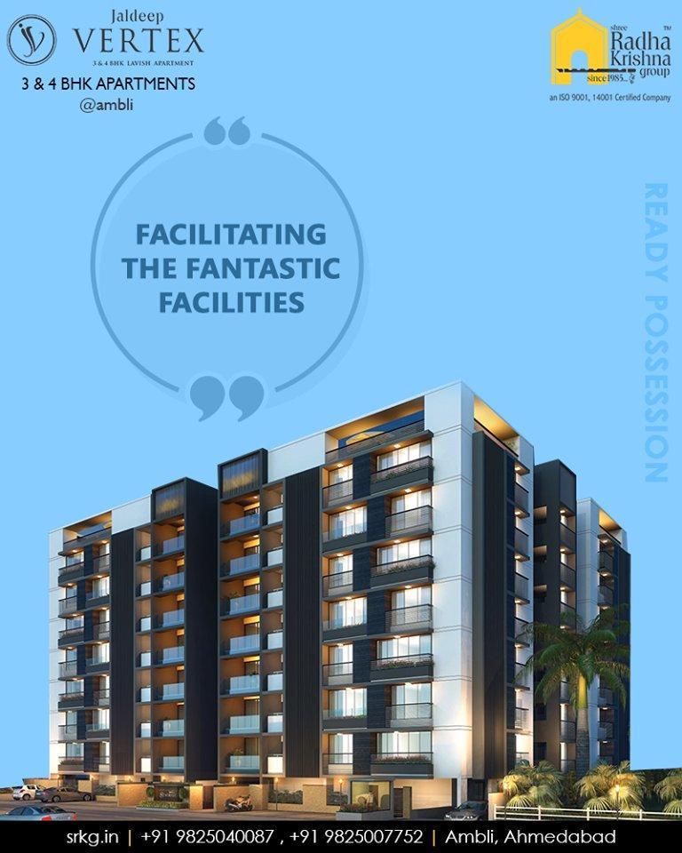 Facilitating a host of the fantastic facilities, #JaldeepVertex indeed offers the quintessence of a good life.  #FacilitatingFantasticFacilities #ExcellenceEverydayEveryway #LuxuryOfSpace #Ambli #ShreeRadhaKrishnaGroup #AmbliRoad #Ahmedabad #RealEstate #LuxuryLiving https://t.co/579YjQD9jS