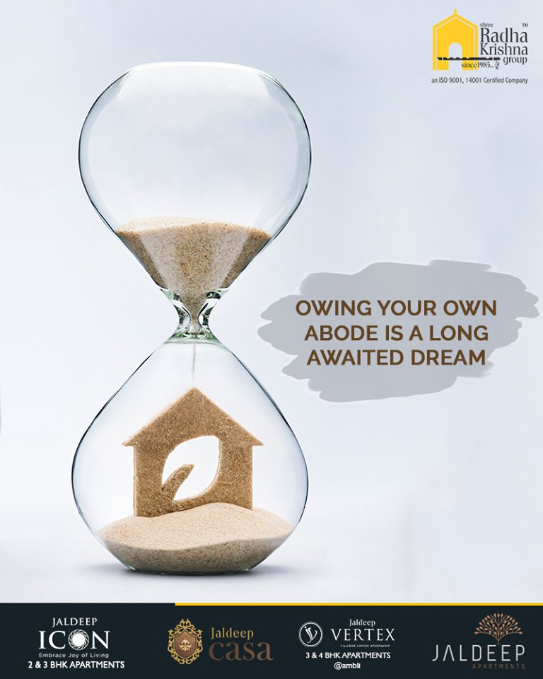 Owing your own abode is a long-awaited dream.  Hustle and let the much-awaited dream come true with Shree Radha Krishna Group.  #AnAssetToCelebrate #NewYearResolution #GoodInvestment #YourHome #ShreeRadhaKrishnaGroup #Ahmedabad #RealEstate #JaldeepApartment #JaldeepVertext https://t.co/2UzeB9gDFO