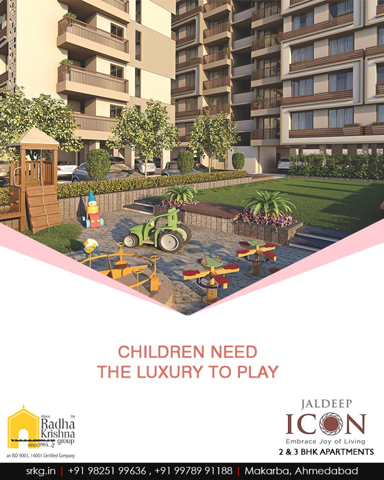 The residents residing at #JaldepIcon will have landscaped garden & kid's play area at their door-step.  Book your space to give your children home with the surrounding where they have luxury and freedom to play. https://t.co/1vx3EhLpX9