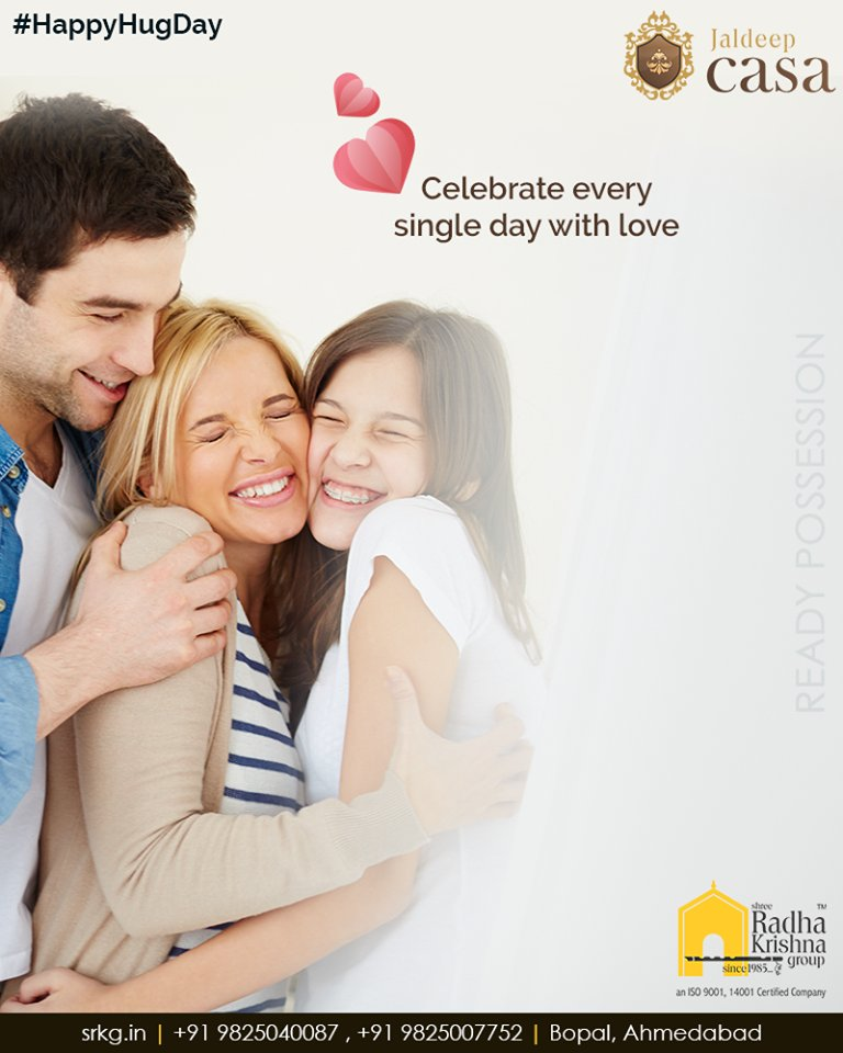 Embrace the good life and cuddle with your beloved ones! Celebrate every single day with love at #JaldeepCasa.  #CelebrateLife365Days #WorldOfHappiness #AnAssetToCelebrate #WorkOfArtResidence #Bopal #ShreeRadhaKrishnaGroup #Ahmedabad #RealEstate #LuxuryLiving https://t.co/Dr8M9qrtcs