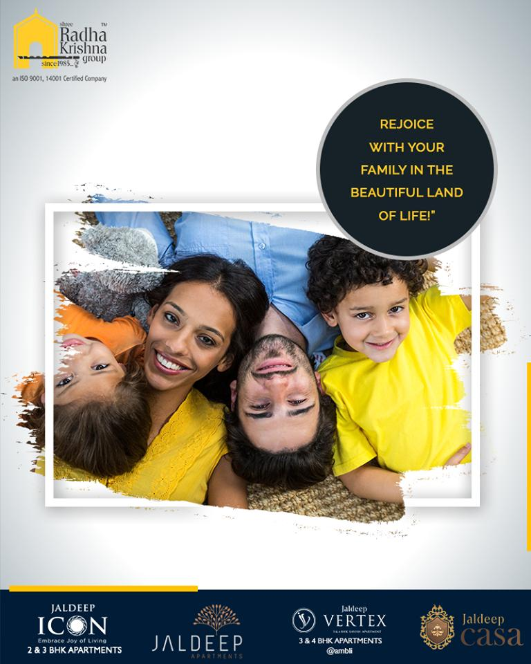 Rejoice with your family in the beautiful land of life because time spent well with family is worth every second.  #TOTD #QOTD #FindyourDreamHouse #ShreeRadhaKrishnaGroup #Ahmedabad #RealEstate #LuxuryLiving #Gujarat #India https://t.co/gibgr53tk8