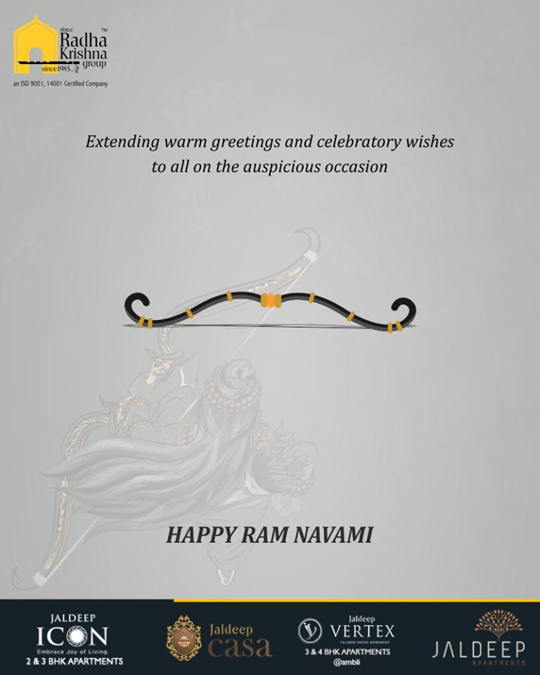 May the divine lord grants peace & prosperity to the entire mankind on this occasion!   #RamNavami #रामनवमी #JaiShriRam #RamNavami2019 #HappyRamNavami #IndianFestival #ShreeRadhaKrishnaGroup #Ahmedabad #RealEstate https://t.co/bT662ntAq3