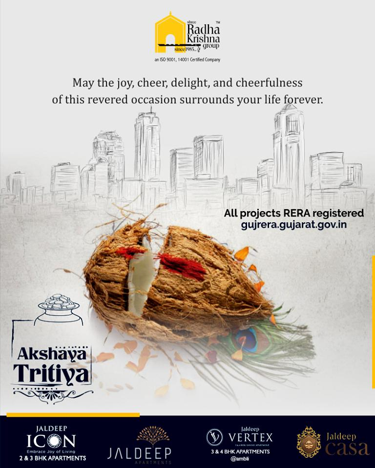 May the joy, cheer, delight, and cheerfulness of this revered occasion surrounds your life forever  #AkshayaTritiya #ShreeRadhaKrishnaGroup #Ahmedabad #RealEstate https://t.co/ncyUKL4OY7