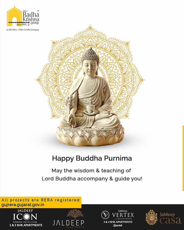 May the wisdom & teaching of Lord Buddha accompany & guide you!  #BuddhaPurnima #BuddhaPurnima2019 #LordBuddha #ShreeRadhaKrishnaGroup #Ahmedabad #RealEstate https://t.co/3xwVZu8ZUk