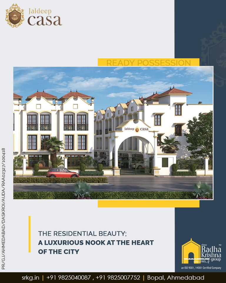 The residential beauty; #JaldeepCasa by Shree Radha Krishna Group brings to you a splash of regal grandiose and a luxurious nook at the heart of the city.  #Bopal #Amenities #LuxuryLiving #ShreeRadhaKrishnaGroup #Ahmedabad #RealEstate #WorldOfHappiness https://t.co/ZqCui4vK6P