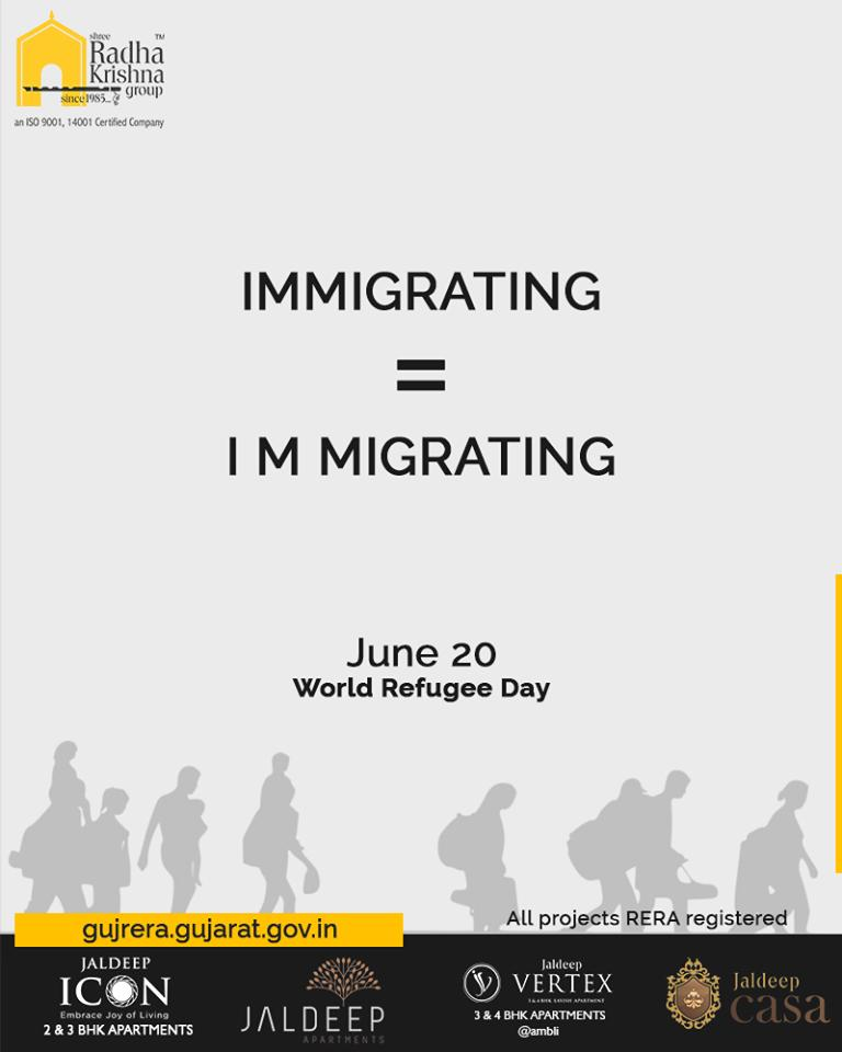 Radha Krishna Group,  WorldRefugeeDay, RefugeeDay, ShreeRadhaKrishnaGroup, Ahmedabad, RealEstate, SRKG
