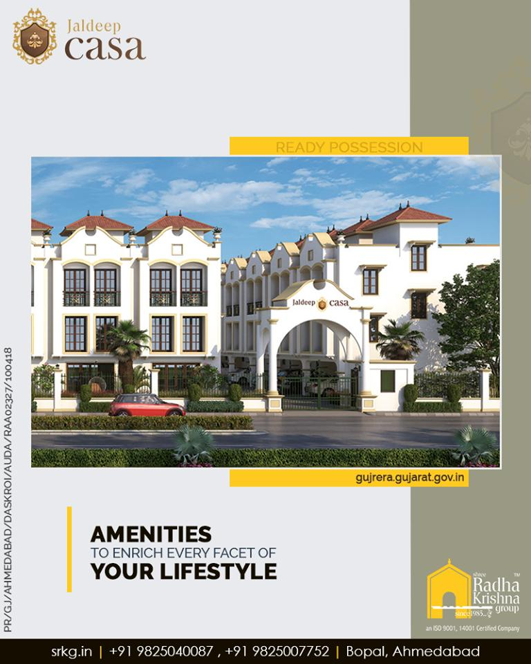 Let every single facet of your urban lifestyle be adorned and enriched with the contemporary lifestyle amenities at #JaldeepCasa.  #Amenities #LuxuryLiving #ShreeRadhaKrishnaGroup #Ahmedabad #RealEstate #SRKG https://t.co/wP7V3w1wJ7