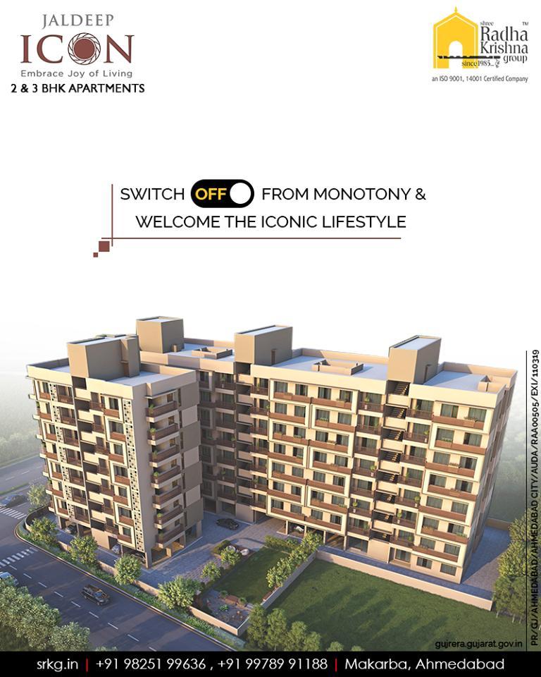 Radha Krishna Group,  JaldeepIcon., IconicLiving, LuxuryLiving, ShreeRadhaKrishnaGroup, Ahmedabad, RealEstate, SRKG, IconicApartments