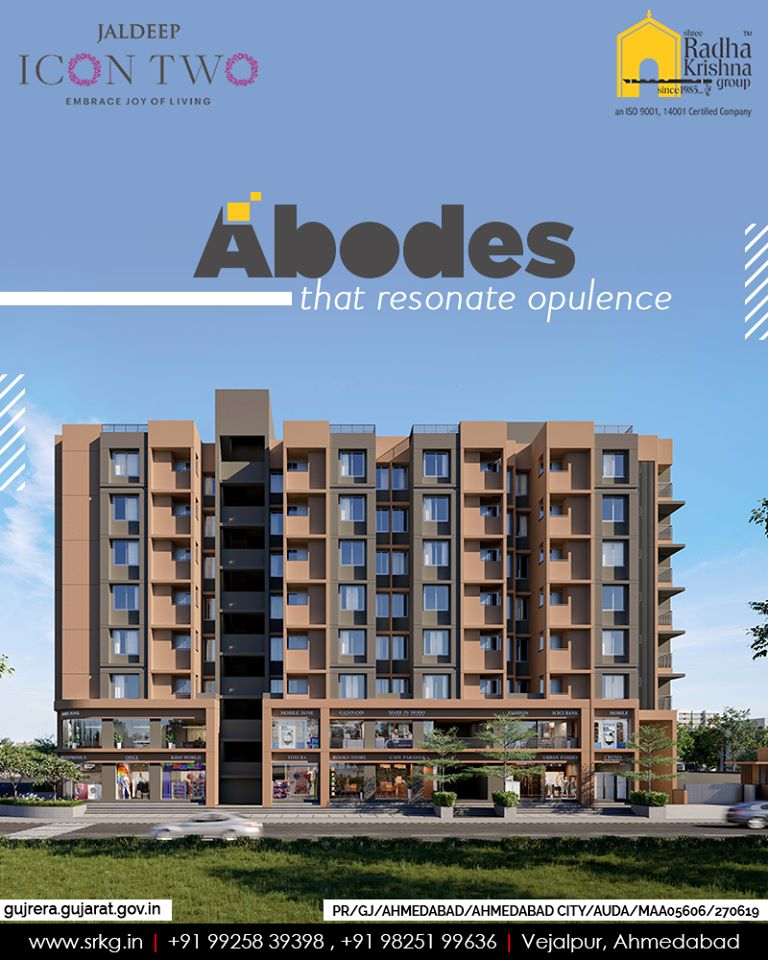 The signature abodes at #JaldeepIcon2 will resonate opulence and reflect finesse.  #Icon2 #ShreeRadhaKrishnaGroup #Ahmedabad #RealEstate #SRKG https://t.co/3xUDddctTU
