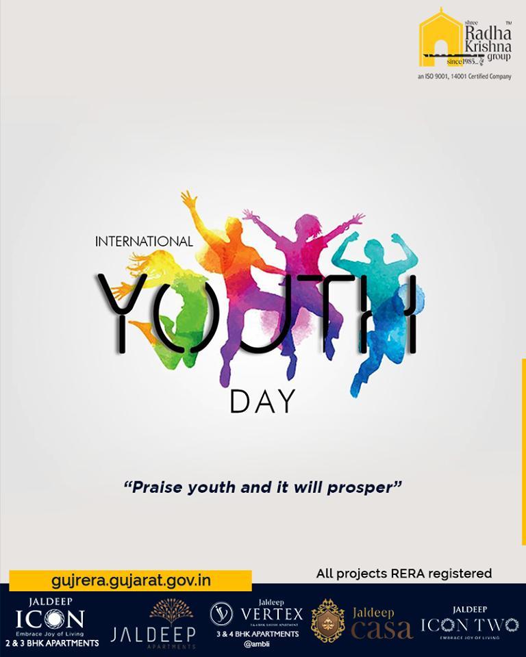 Radha Krishna Group,  InternationalYouthDay, YouthDay, ShreeRadhaKrishnaGroup, Ahmedabad, RealEstate, SRKG