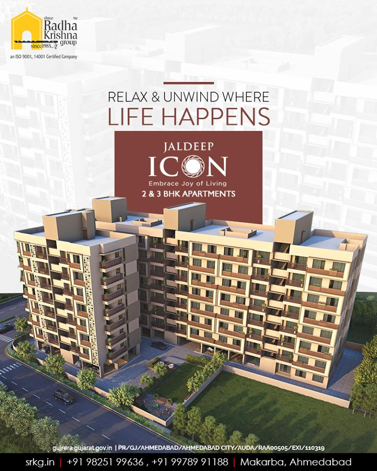 Re-imagine the amenities, live in style, relax and unwind at #JaldeepIcon where life happens!  #BookingsOpen #IconicLiving #ShreeRadhaKrishnaGroup #Ahmedabad #RealEstate #SRKG #KidFriendlyAmenities https://t.co/RHsHO5WKRP